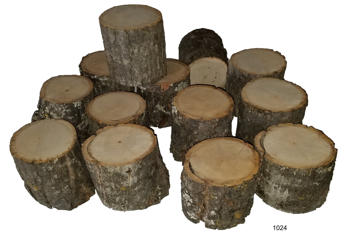 Small tree slice pillars