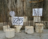 Birch Log Table Numbering Card Holders