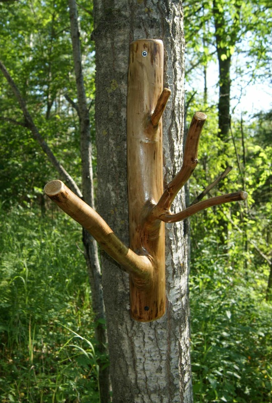 wal mount tree branch coat hanger