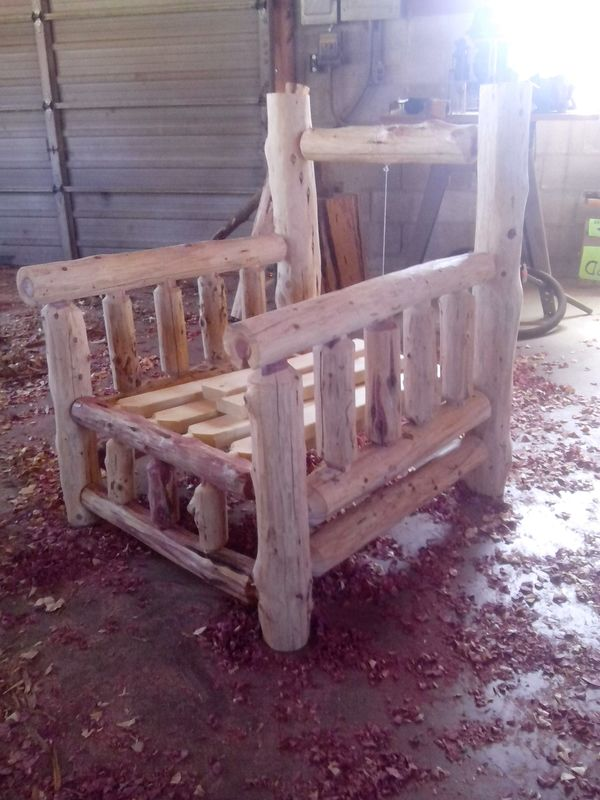 Building a Log Chair with Tenon Cutter