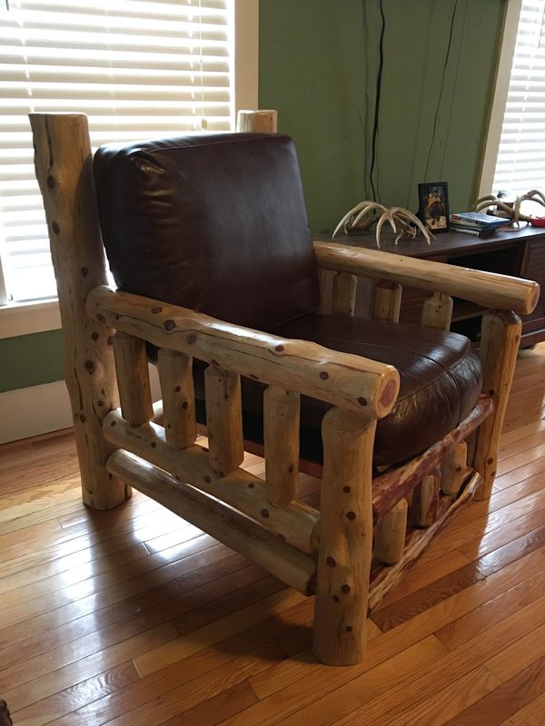 Log Chair is finished and beautiful