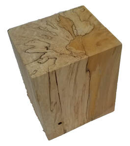 Rectangle Wood Pillar Base
