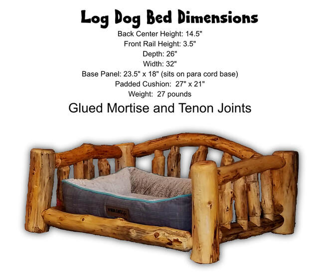Pine Log Bed for Dog