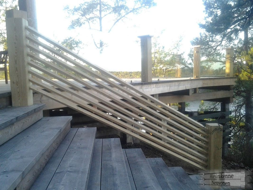 deck railing made with e z log tenon cutter