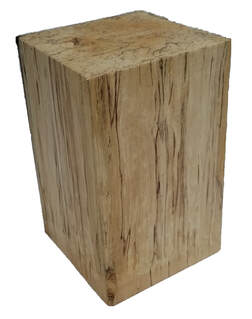 basswood rectangle pillar display wood stand