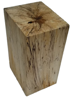 Log Wood Block Pillar