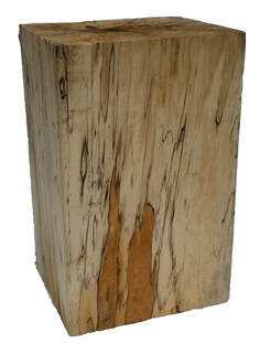 Spalted basswood rectangle wood block