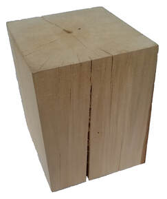 basswood display pillar block Picture